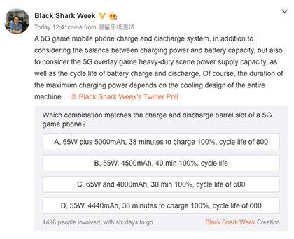 Игровой смартфон Black Shark 3 получит сверхбыструю зарядку