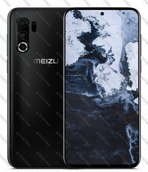 На новом рендере Meizu 17 выглядит более привычно