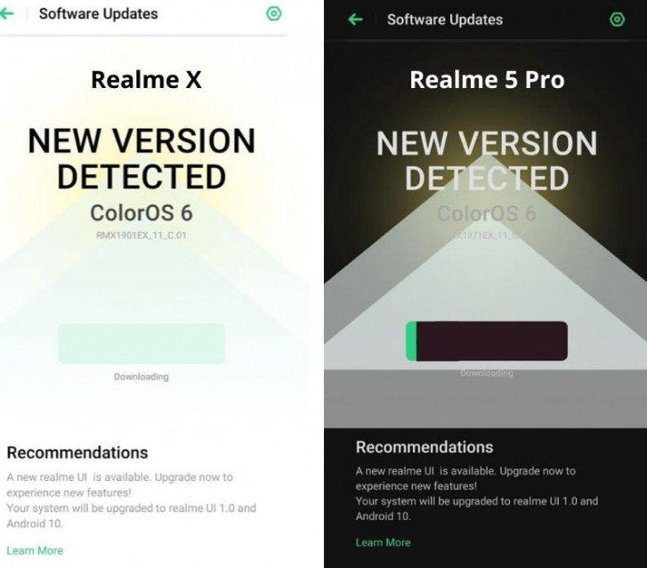 Смартфоны Realme X и Realme 5 Pro обновляются до Android 10