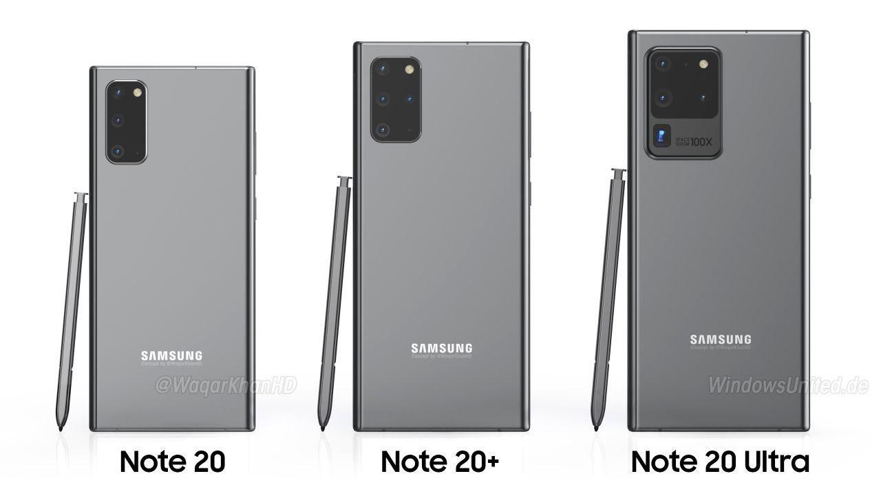 Какой дизайн получит линейка Samsung Galaxy Note 20?