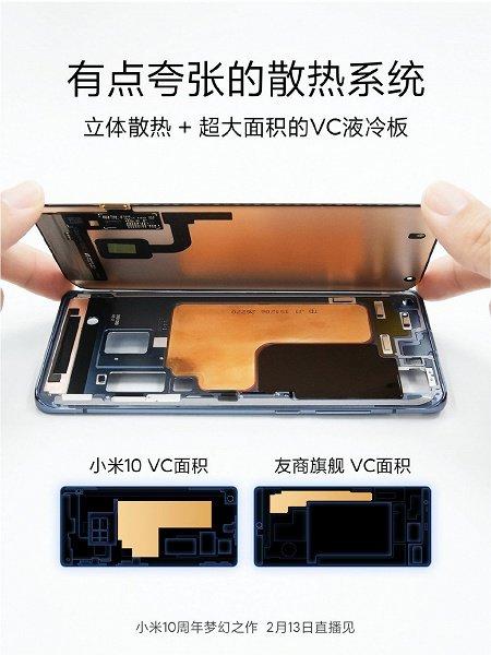 """Внутренности"" Xiaomi Mi 10 продемонстрировали на фото"