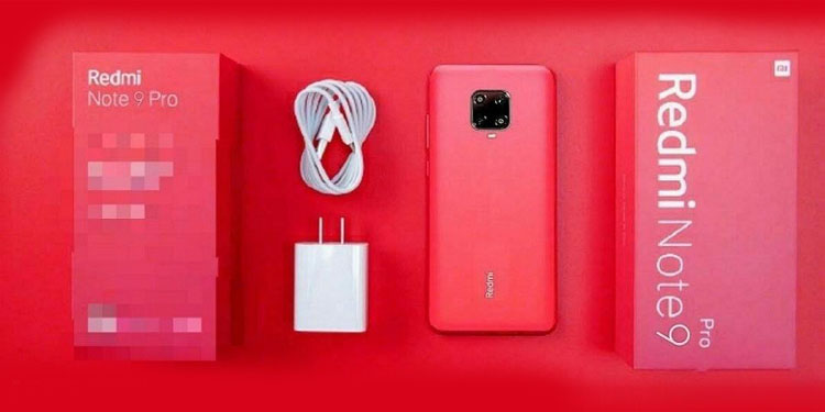 Смартфон Redmi Note 9 Pro c комплектом поставки на фото