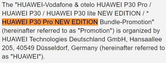 Huawei выпустит смартфон Huawei P30 Pro New Edition