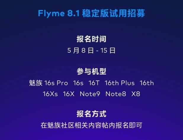 Прошивку Flyme 8.1 получат 10 моделей смартфонов Meizu
